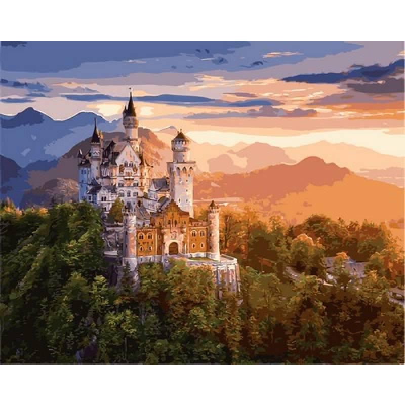Картина по номерам VP908 Замок Нойванштайн, 40x50 см., Babylon