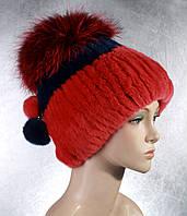 Женская меховая шапка Фонарик цветной из рекса