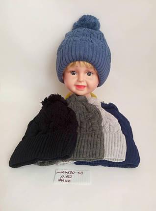 Детская шапка на флисе для мальчика Милк р.50, фото 2