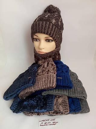 Подростковая шапка с хомутом на флисе для мальчика Рикстер р.52-54, фото 2