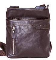 Мужская сумка планшетка натуральная кожа коричневая