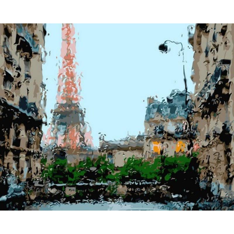 Картина по номерам Дождливая погода Франция, 40x50 см., Babylon