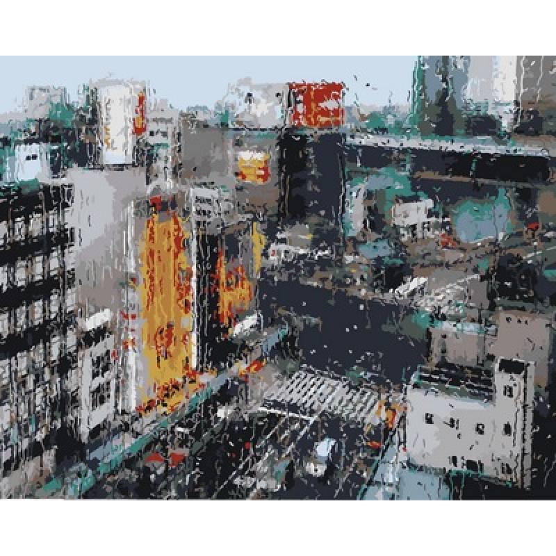 Картина по номерам Городской дождь, 40x50 см., Babylon