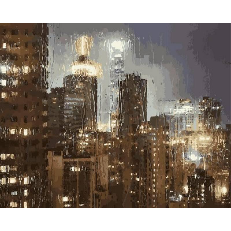 Картина по номерам Гонконг в дождь, 40x50 см., Babylon