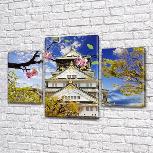 Картина Пейзажи Азии из фотографии модульные на холсте дешево в интернет магазине, 45х70 см, (30x20-2/45x25)