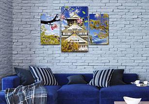 Картина Пейзажи Азии из фотографии модульные на холсте дешево в интернет магазине, 45х70 см, (30x20-2/45x25), фото 3