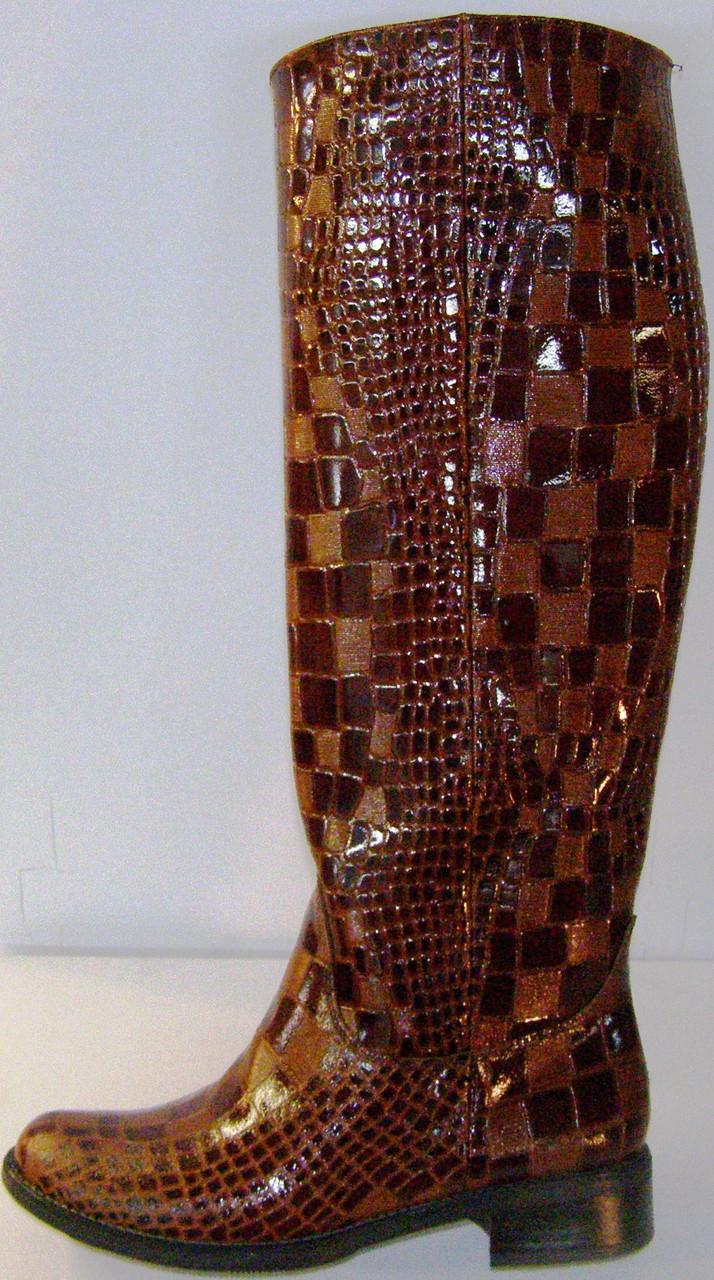 Сапоги зимние женские кожаные высокие лак 37 размер (24.5