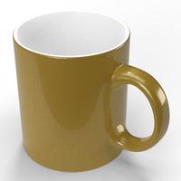 Чашка для сублімації, золотистий металік 330мл