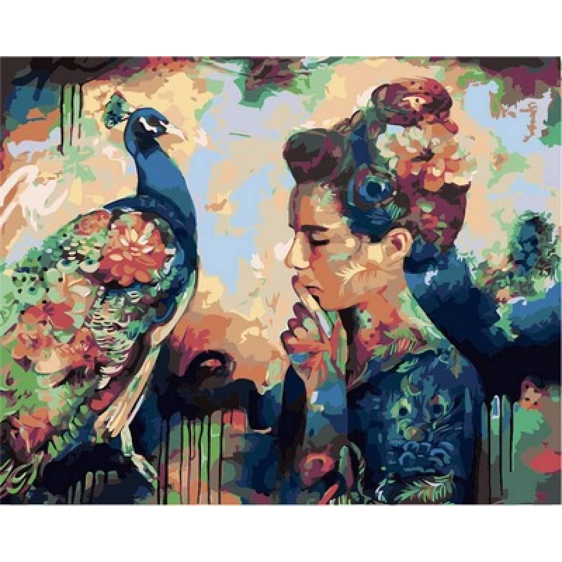 Картина по номерам Мысли о красоте. Худ. Димитра Милан, 40x50 см., Babylon