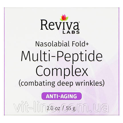 Reviva Labs, Nasolabial Fold+, мультипептидный комплекс, 55 г (2 унции), фото 2