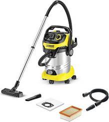 Karcher WD 6 P Premium - пылесос для влажной и сухой уборки с розеткой для электроинструмента (1.348-272.0)