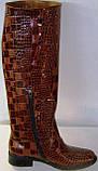 Сапоги зимние женские кожаные высокие лак 37 размер (24.5, фото 3