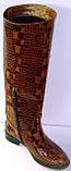 Сапоги зимние женские кожаные высокие лак 37 размер (24.5, фото 4
