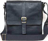 Мужская сумка из натуральной кожи черная, фото 1