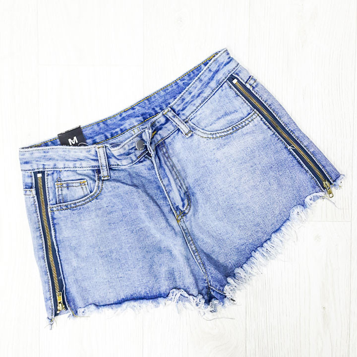 Шорты джинсовые молнии - 514-6691