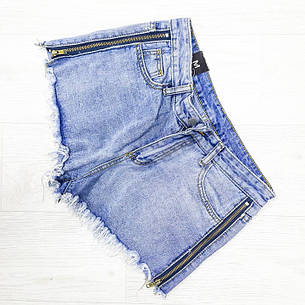 Шорты джинсовые молнии - 514-6691, фото 2