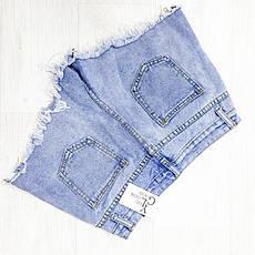 Шорты джинсовые молнии - 514-6691, фото 3