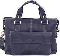 Мужская сумка натуральная кожа синяя, фото 1
