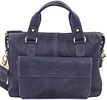 Мужская сумка натуральная кожа синяя