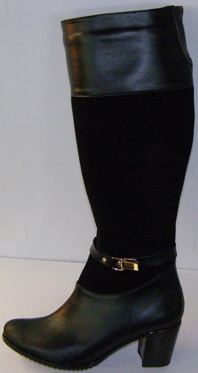 Сапоги женские кожаные высокие