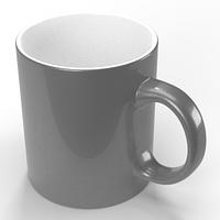 Чашка для сублімації, сріблястий металік 330мл (серія PREMIUM)