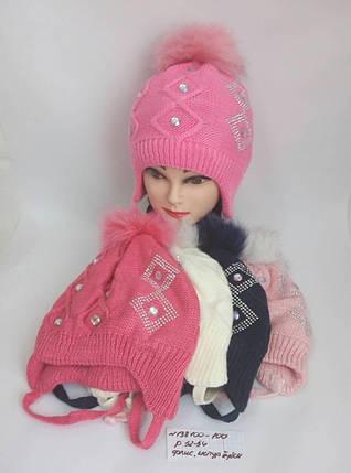 Подростковая шапка для девочки на флисе Кристи р. 52-54, фото 2