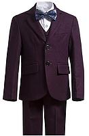 Фиолетовый нарядный костюм для мальчика 2-13 лет, фото 1