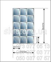 Раскладка панно квадратами