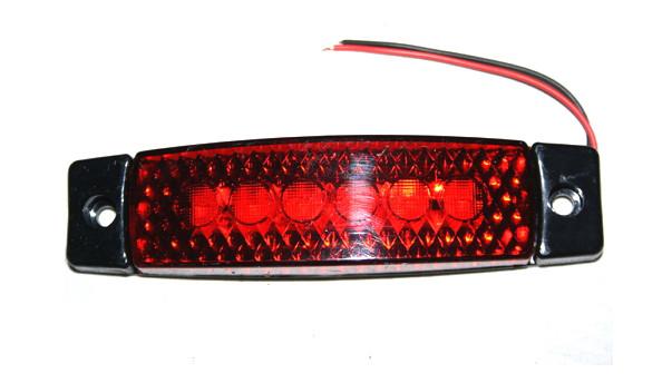 Ліхтар 6-ти діодний червоний для вантажівок(6998)