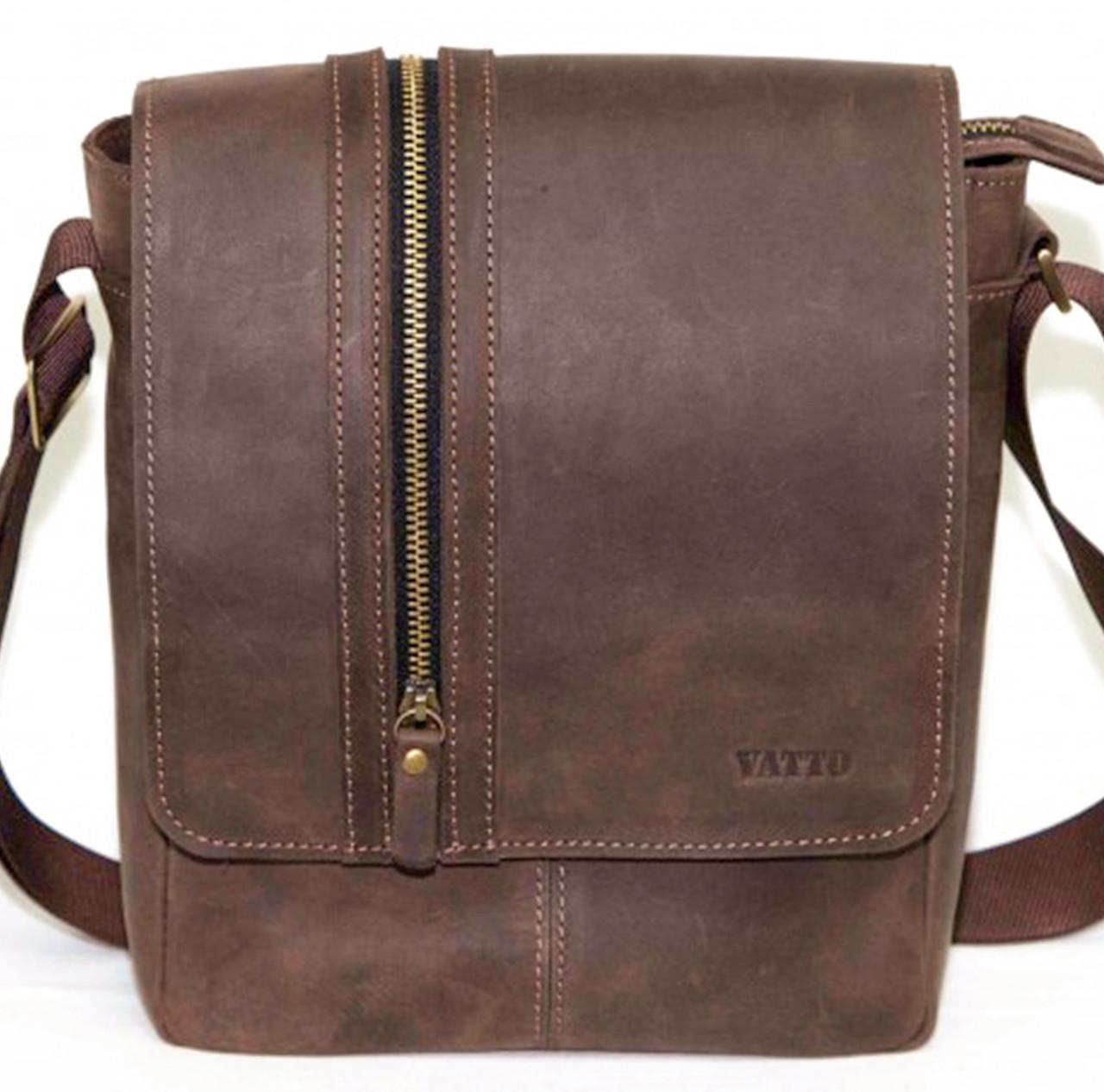 Мужская сумка натуральная кожа коричневая