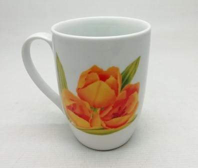 """Чашка HP-04  конус/фарфор 250 мл.  (1шт.)  """"Желтый тюльпан""""  Идеал Киев(Украина)"""