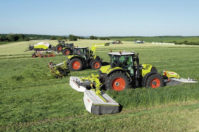 Фото немецких тракторов Claas из Европы