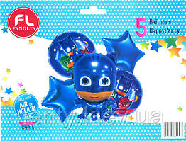 """Готовый Набор шаров """"ГЕРОИ В МАСКАХ"""" синий. в упаковке: 5-ть шт"""
