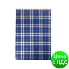 """Блокнот на пружине, А4, 48 листов, """"Shotlandka"""", клетка, картонная обложка,синий BM.2460-02"""