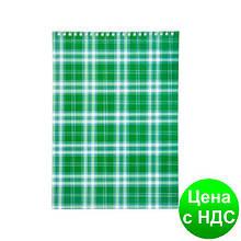 """Блокнот на пружине, А4, 48 листов, """"Shotlandka"""", клетка,  картонная обложка,зеленый BM.2460-04"""