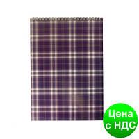 """Блокнот на пружине, А4, 48 листов, """"Shotlandka"""", клетка, картонная обложка, фиолетовый BM.2460-07"""
