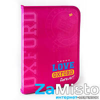 Папка для труда на молнии с внутренним карманом Оxford розовый