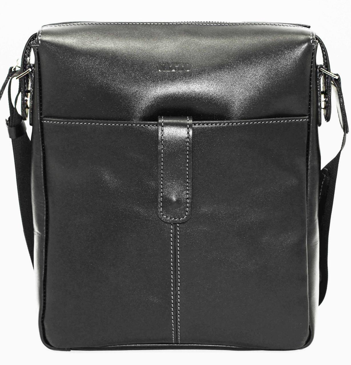 Мужская сумка натуральная кожа черная