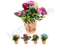 Искусственные цветы в горшке 18*19см
