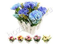 """Искусственные цветы в горшке """"Гвоздики"""" 21*14*20см"""