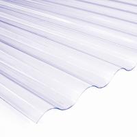 Прозрачный кровельный ПВХ лист Salux Strong 76/18 2х0,9 м., прозрачная волна, фото 1