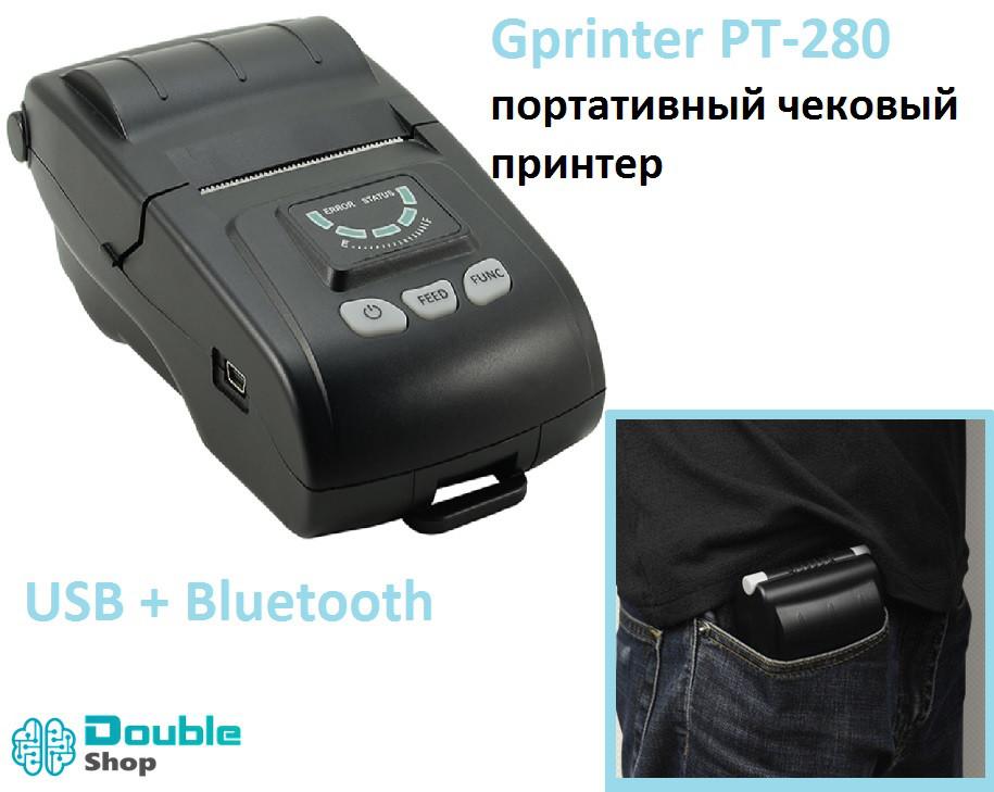 GP PT-260 57мм мобильный принтер чеков USB Bluetooth под Android \ iOS \ Windows