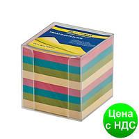 Бокс с цветной бумагой 90х90х90мм., прозор. BM.2291-03