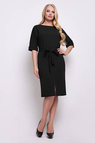 c270d121129 Деловое платье по фигуре средней длины с широкими рукавами Руся-Б к р  большие