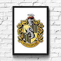 Постер с рамкой Пуффендуй, Hufflepuff
