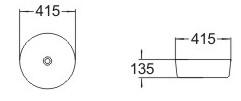 Умывальник накладной Volle раковина, фото 3
