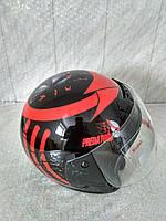 Шлем открытый черный глянец с красными стрелами и когтями PREDATORS (серия Чужой)   размер ХS(53-54)