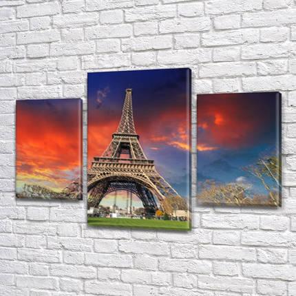 Картины на кухню фото, на Холсте син., 45х70 см, (30x20-2/45x25), фото 2