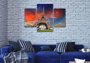 Картины на кухню Башня в небо, на Холсте син., 45х70 см, (30x20-2/45x25), фото 3