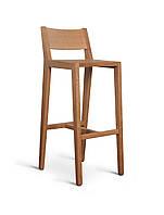 Барный стул из натурального дерева